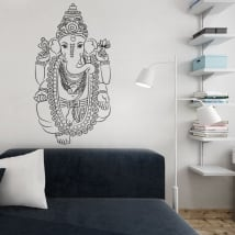 Decorative vinyl ganesha decorate walls and objects
