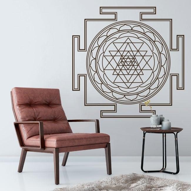 Decorative vinyl mandalas sri yantra
