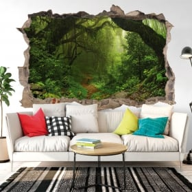 Decorative vinyl trees in the forest 3d