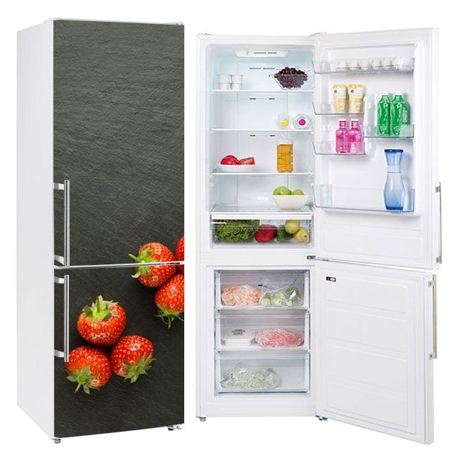 Vinyl strawberries to decorate refrigerators