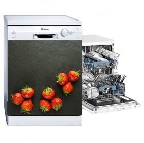 Adhesive vinyl dishwasher strawberry splash