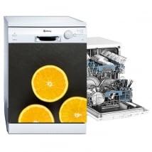 Decorative vinyl dishwashing oranges