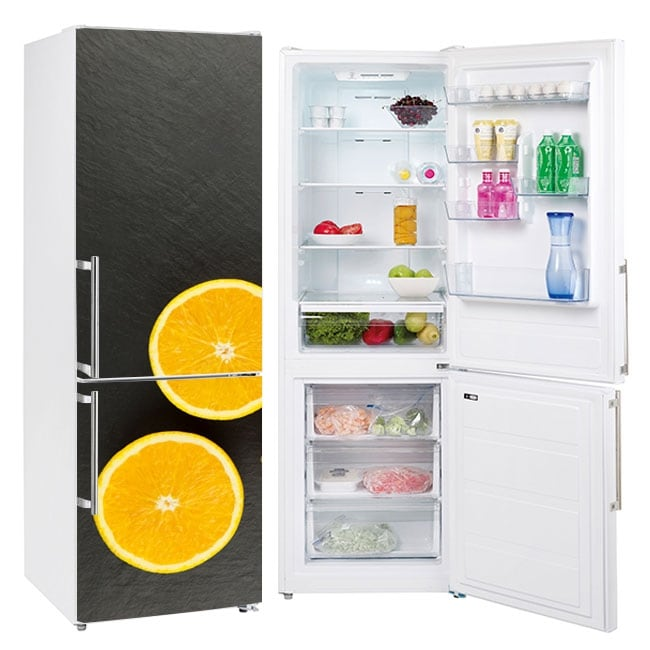 Vinyl oranges to decorate refrigerators