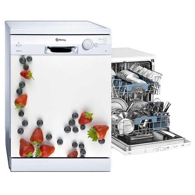 Decorative vinyl fruits for dishwashers