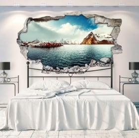 Decorative vinyl lofoten islands norway 3d