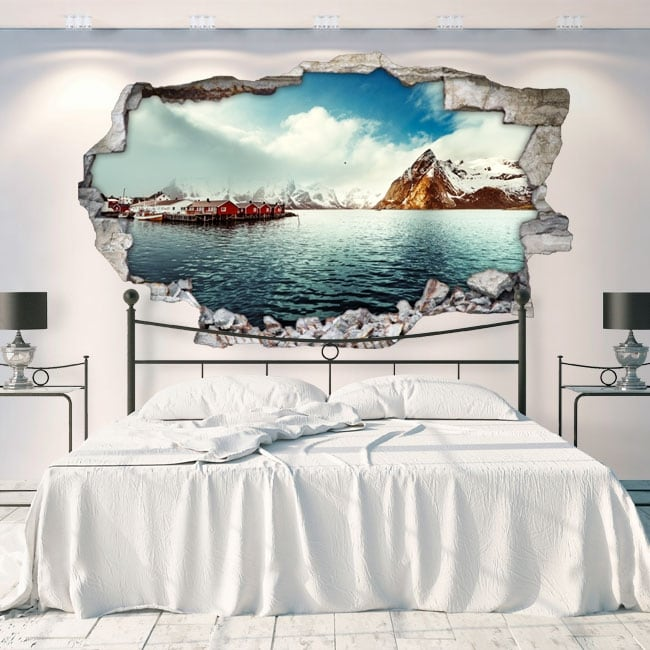 Decorative vinyl lofoten islands norway 3d