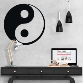 Decorative vinyl and stickers yin yang