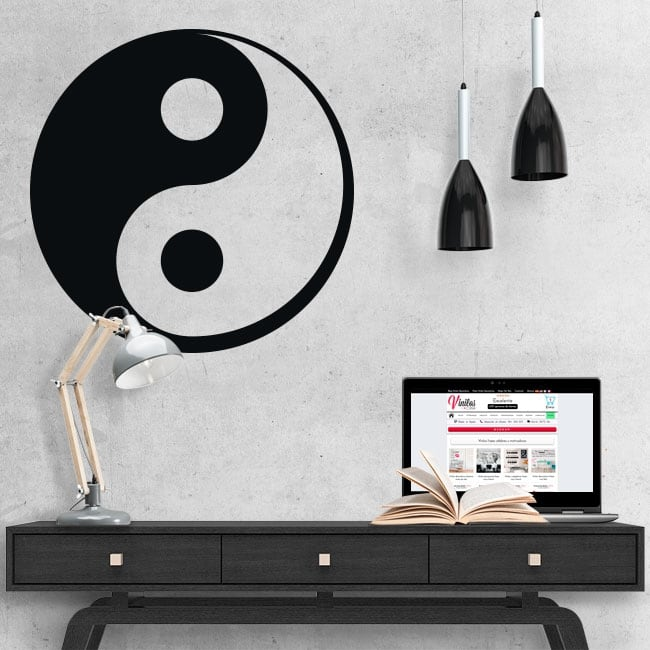 Decorative vinyl yin yang