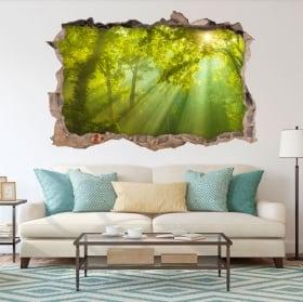 Decorative vinyl 3d trees in autumn