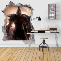 Decorative vinyl 3d spartan warrior illustration