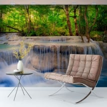 Vinyl murals waterfalls in the forest