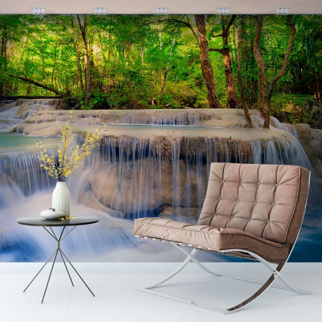 Vinyl murals waterfalls in the forest