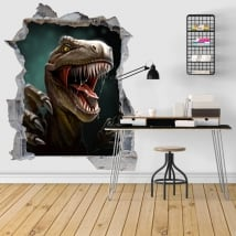 Decorative vinyl 3d dinosaur illustration