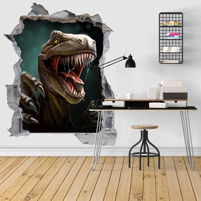 Decorative vinyl 3d dinosaur illustration