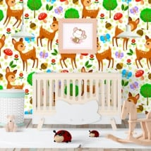Wall murals of children's vinyl bambi