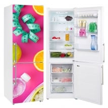 Stickers decorate fridges diet and healthy life