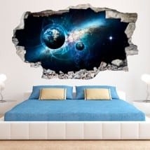 Decorative vinyl and stickers 3d galaxy