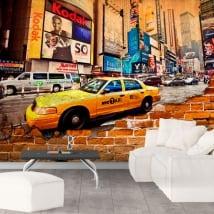 Murals new york city broken wall effect