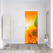 Vinyl for doors and cupboards sunflowers