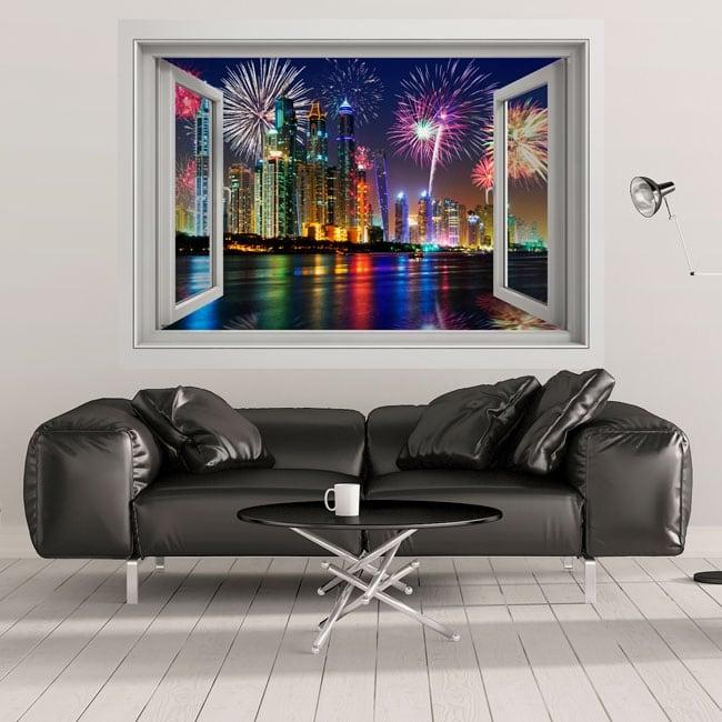 Vinyl windows fireworks in dubai 3d