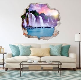 Wall stickers 3d waterfalls in the forest
