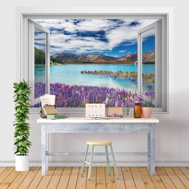 Vinyl windows lake tekapo new zealand 3d