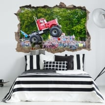 Vinyl walls big pete monster truck 3d