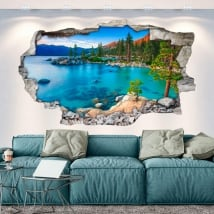 Vinyl walls sand harbor lake tahoe sierra nevada 3d