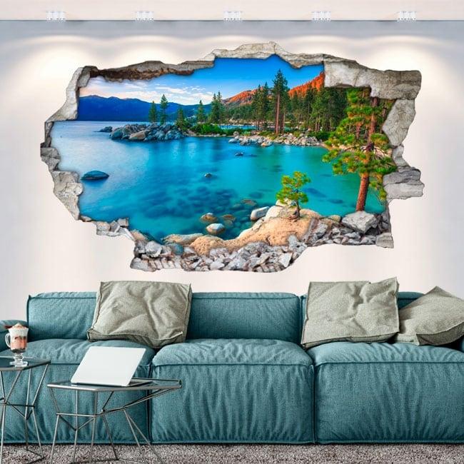 Vinyl walls sand harbor lake tahoe sierra nevada 3d