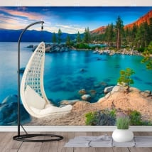 Wall murals sand harbor lake tahoe sierra nevada