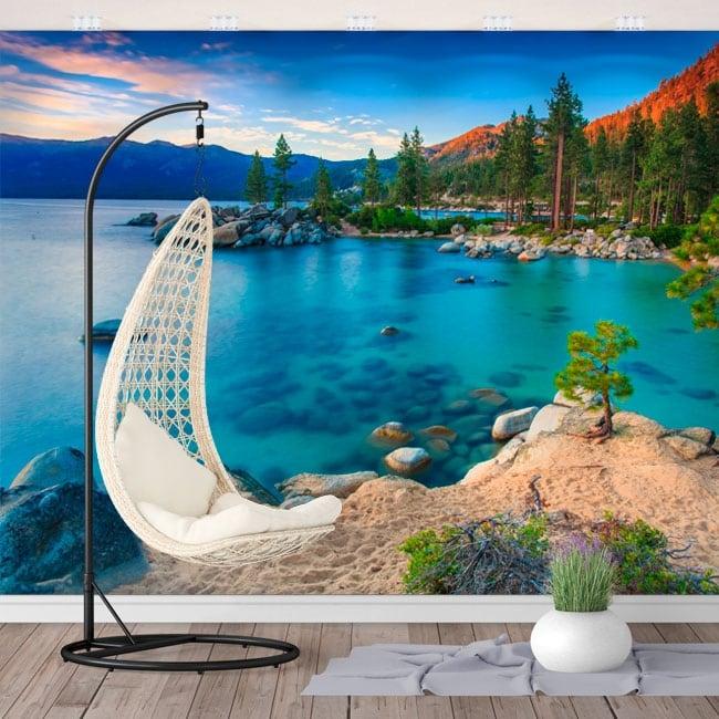 Wall murals sand harbor lake tahoe sierra nevada