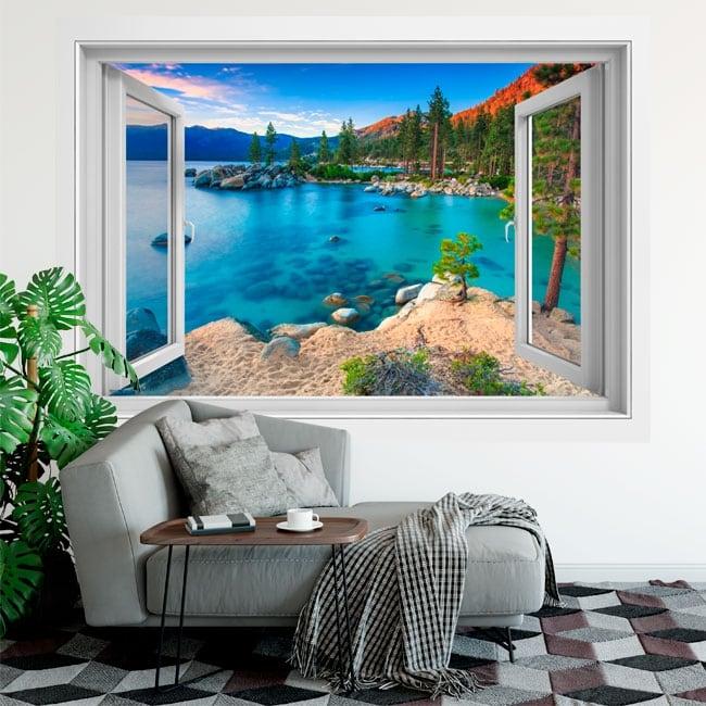 Vinyl windows sand harbor lake tahoe sierra nevada 3d