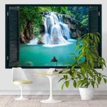 Vinyl window waterfall huai mae khamin thailand 3d