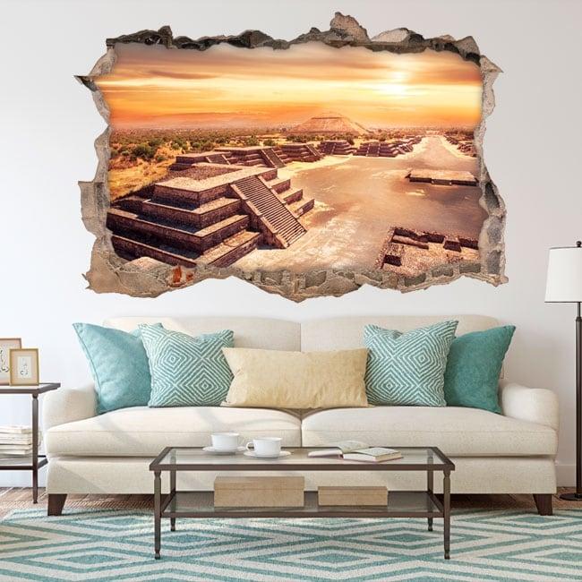 Decorative vinyl mexico teotihuacan 3d