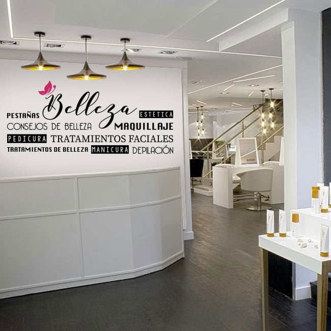 Vinyls to decorate beauty salons