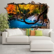 Decorative vinyl waterfall asia forests 3d