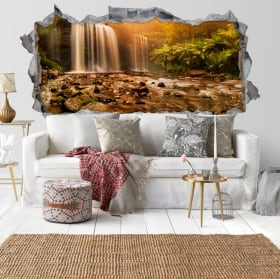 Vinyl walls waterfall and nature 3d