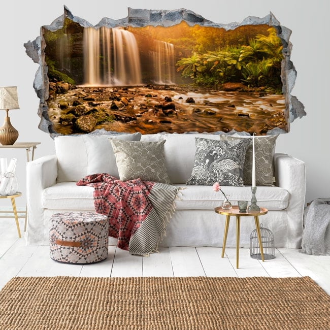 Decorative vinyl waterfalls tasmania russell 3d