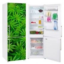 Vinyl decorate fridges plants marijuana