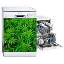Vinyl for dishwashers marijuana plants