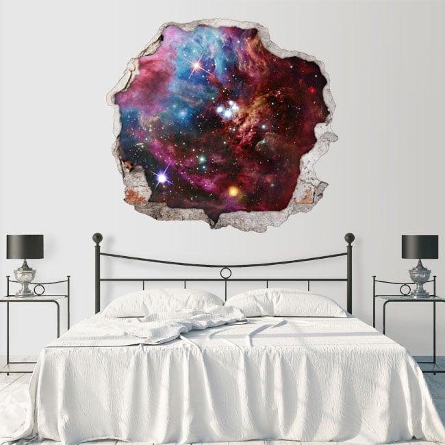 Decorative vinyl walls space nebula 3d
