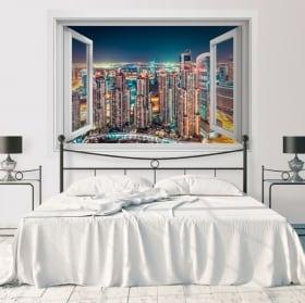 Wall stickers window Dubai marine 3D