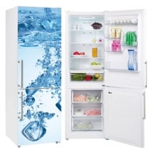 Decorative vinyl refrigerators ice cubes