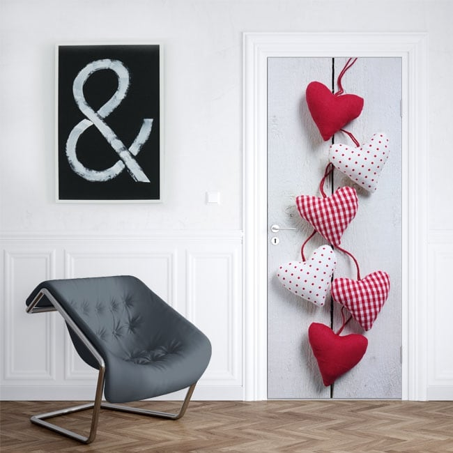 Vinyl for doors and cabinets hearts
