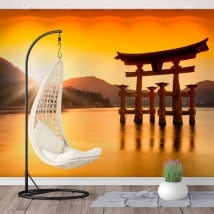 Wall murals japan torii floating sanctuary itsukushima