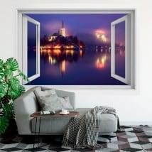 Decorative vinyl windows slovenia bled 3d