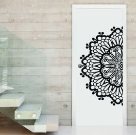 Wall decal half mandala
