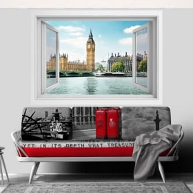 Vinyl window big ben london 3d