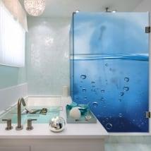 Vinyl bathroom screens bubbles in the water