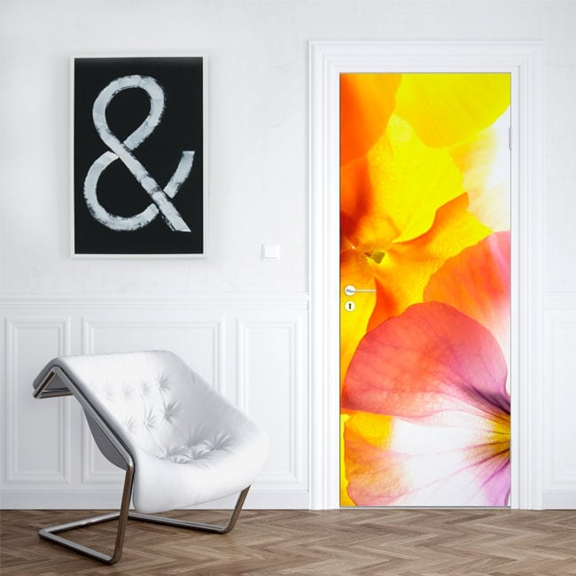 Decorative vinyl flowers to decorate doors and cabinets